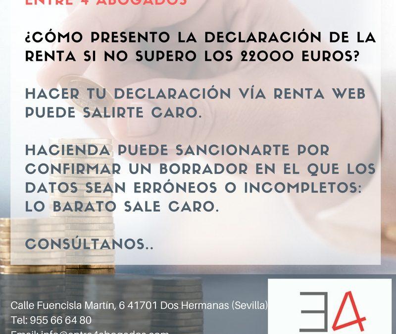 He trabajado en tres empresas pero mis ingresos no superan los 22.000 euros